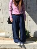 a.kさんの「ZIPポケットスクエアショルダーバッグ/ハンドバッグ【PLAIN CLOTHING】(PLAIN CLOTHING|プレーンクロージング)」を使ったコーディネート