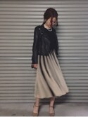 「ASOS Petite ASOS PETITE Mesh Fit And Flare Midi Dress(Asos)」 using this Sao Tano looks