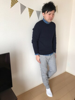 「【BACK NUMBER】コットンカシミヤニット(Right-on)」 using this Akihito Ito looks