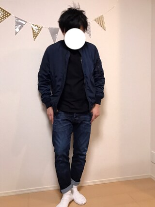 「【GOOD WEAR】胸ポケットロンT(Goodwear)」 using this Akihito Ito looks