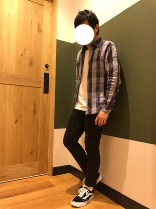 「【BACK NUMBER】リネンチェックシャツ(Right-on)」 using this Akihito Ito looks