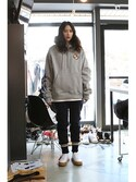「Ceremony Tape Wide hoodie_GRAY(RMTC)」 using this romanticcrown looks
