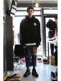 「Ceremony Tape Wide hoodie_BLACK(RMTC)」 using this romanticcrown looks