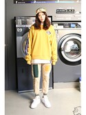 「Ceremony Tape Crew neck_MUSTARD(RMTC)」 using this romanticcrown looks