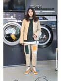 「Patchwork Cutting Pants_Beige(RMTC)」 using this romanticcrown looks