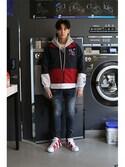 romanticcrownさんの「Laundry Day hoodie_Gray(RMTC ロマンティッククラウン)」を使ったコーディネート