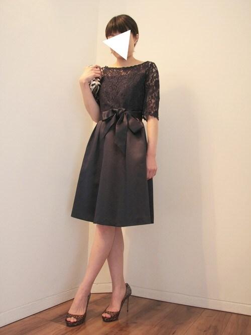 結婚式黒ドレスコーデ