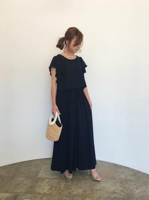 結婚式 服装 マタニティ コーデ
