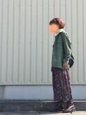 fufufuさんの「ファティークシャツ ジャケット(THE SHINZONE|ザ シンゾーン)」を使ったコーディネート