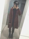 「Vivienne Westwood Diamante Heart Stud Earrings(Vivienne Westwood)」 using this SAKURA SHIMIZU looks