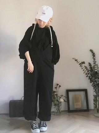 emi さんの「KaneZ×CLANE CAP(CLANE|クラネ)」を使ったコーディネート