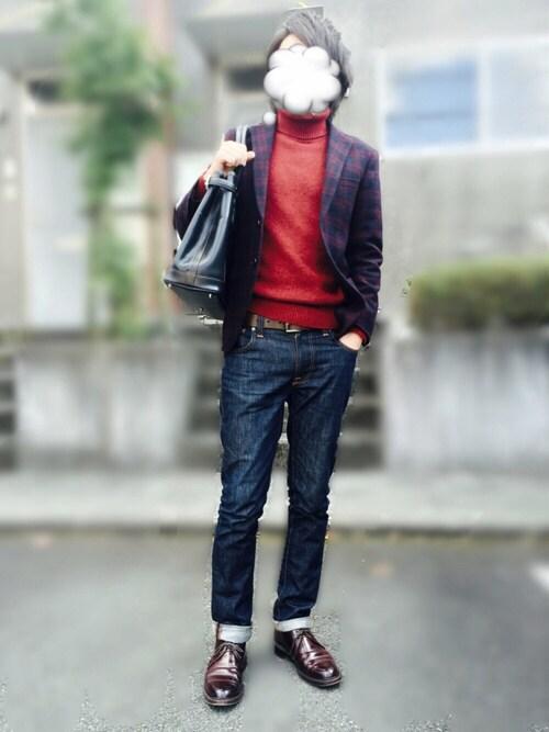 【男女別】ジーンズと革靴のおすすめのコーデ|黒/春/夏