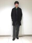 RYO KUROSAWAさんの「ボックスシルエットジップシャツ(ADAM ET ROPE'|アダム エ ロペ)」を使ったコーディネート