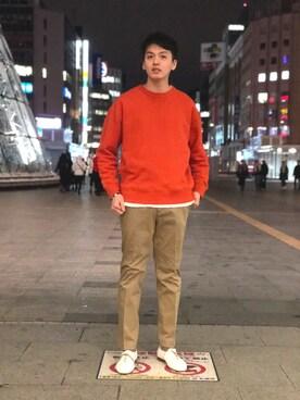 ADAM ET ROPE' 札幌ステラプレイス  RYO KUROSAWAさんのパンツ「テックストレッチスキニーパンツ(ADAM ET ROPE' アダム エ ロペ)」を使ったコーディネート