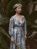 「Zimmermann - Winsome Printed Twill Dress - Light denim(Zimmermann)」 using this Stephanie Liu  looks