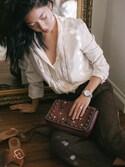 「COACH Coach Western Rivets Dinky Crossbody 24 In Glovetanned Leather(COACH)」 using this Stephanie Liu  looks