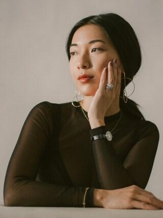 「Maison Martin Margiela Long Sleeve Mesh Top(MAISON MARGIELA)」 using this Stephanie Liu  looks