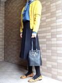 「CHARLOTTE OLYMPIA Feline leather bucket bag(Charlotte Olympia)」 using this ONOK looks