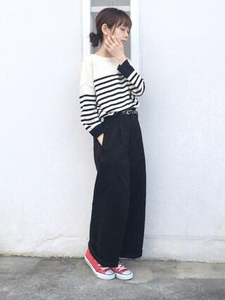 「≪2017SS予約≫chinoワイドパンツ◆(FRAMeWORK)」 using this 浅倉 まい looks