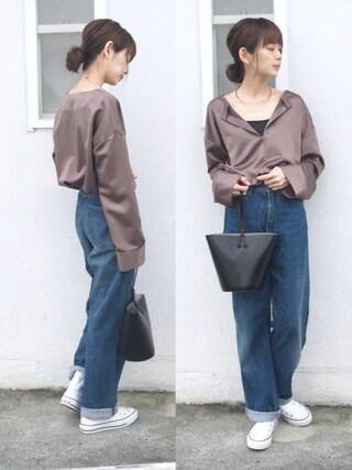 「Skipper Satin Shirts(TODAYFUL)」 using this 浅倉 まい looks