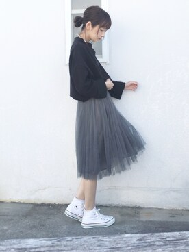 浅倉 まいさんの「ふんわりチュールスカート(coca|ヴィヴィアンウエストウッド)」を使ったコーディネート