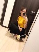 RUI♡さんの「プレーンカットスカンツ(MURUA|ムルーア)」を使ったコーディネート