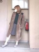 KURUMIさんの「BIG BACKPACK BAR(MILKFED.|ミルクフェド)」を使ったコーディネート