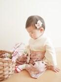 chinaさんの「ダマスク柄袴風カバーオール【女の子用】(Sweet Mommy|スウィートマミー)」を使ったコーディネート