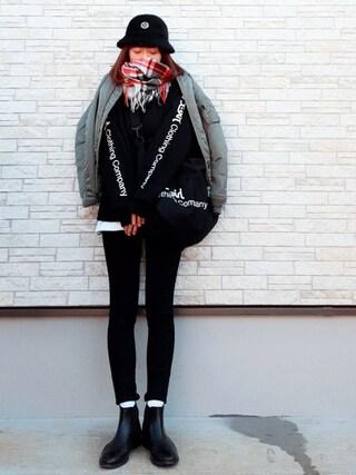「XG HAT(X-girl)」 using this **ゆぅ** looks