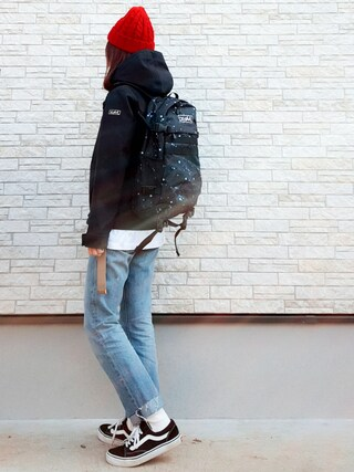 「ADVENTURE BACKPACK(X-girl)」 using this **ゆぅ** looks