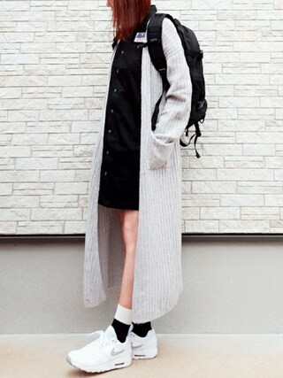 **ゆぅ**さんの「WORK SHIRT DRESS(X-girl|エックスガール)」を使ったコーディネート