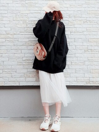 「White Furylite GP Sneakers(Reebok)」 using this **ゆぅ** looks