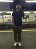 スギタさんの「MXP メンズ ファインドライクルーネックポケット付半袖シャツ(MXP エムエックスピー)」を使ったコーディネート
