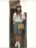 yuyuyuさんの「レースパフスリーブプルオーバー4915(merlot|メルロー)」を使ったコーディネート