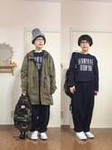 kinokoさんの「綿麻ルーズビックパンツ【niko and...】(niko and...|ニコアンド)」を使ったコーディネート