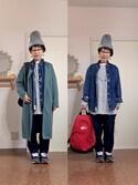 kinokoさんの「SAUCONY サッカニー JAZZ O DENIM ジャズ オリジナル デニム S70253-1 BLUE(Saucony|サッカニー)」を使ったコーディネート