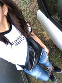 mamena♪ is wearing AZUL by moussy