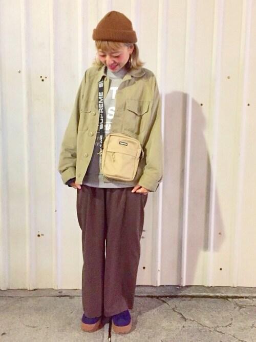 SHIN使用「JEANASIS(ヴィンテージミリタリージャケット/780917)」的時尚穿搭
