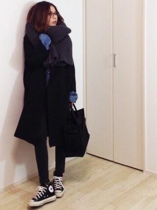 mayumiさんの「ドロップショルダーコート(TODAYFUL|トゥデイフル)」を使ったコーディネート