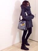 mayumiさんの「ニットマフラー(TODAYFUL|トゥデイフル)」を使ったコーディネート