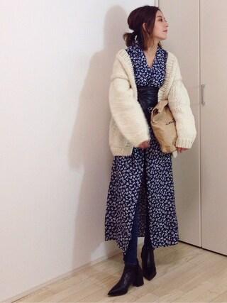 mayumiさんの「【ViVi 3月号掲載】AVERY FLOWER MAXI OP(SLY|スライ)」を使ったコーディネート