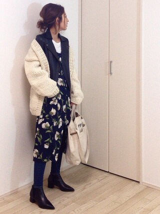 「Hand Knit Cardigan(TODAYFUL)」 using this mayumi looks