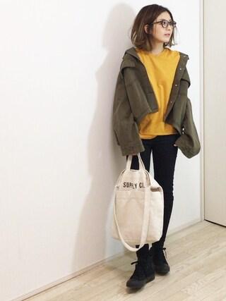 mayumiさんの「ワイドスリーブジャケット(TODAYFUL|トゥデイフル)」を使ったコーディネート