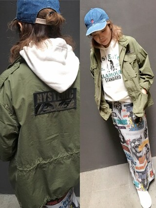 「M-65JK(HYSTERIC GLAMOUR)」 using this HYSTERIC GLAMOUR福岡店|happachin looks