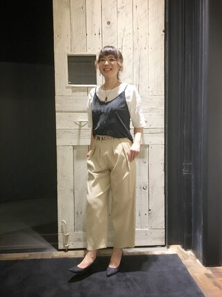 「LADY LAND ACADEMY pt キャミソール(HYSTERIC GLAMOUR)」 using this HYSTERIC GLAMOUR福岡店|happachin looks