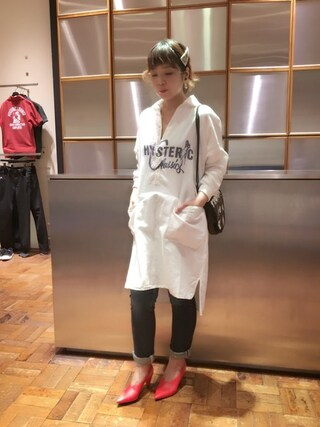 「CLASSICS pt 長袖プルオーバーSHOP(HYSTERIC GLAMOUR)」 using this HYSTERIC GLAMOUR福岡店|happachin looks