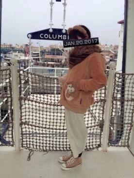 kana.さんの「(L'aube)【WEB限定&洗える】リブニット スカート(any SiS)」を使ったコーディネート