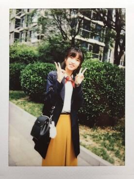 兎YAMIさんの「ドレープガウチョパンツ(UNIQLO|ユニクロ)」を使ったコーディネート