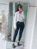 Akane_R is wearing ZARA