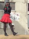 サヨさんの「恋するミニスカート(SPINNS|スピンズ)」を使ったコーディネート